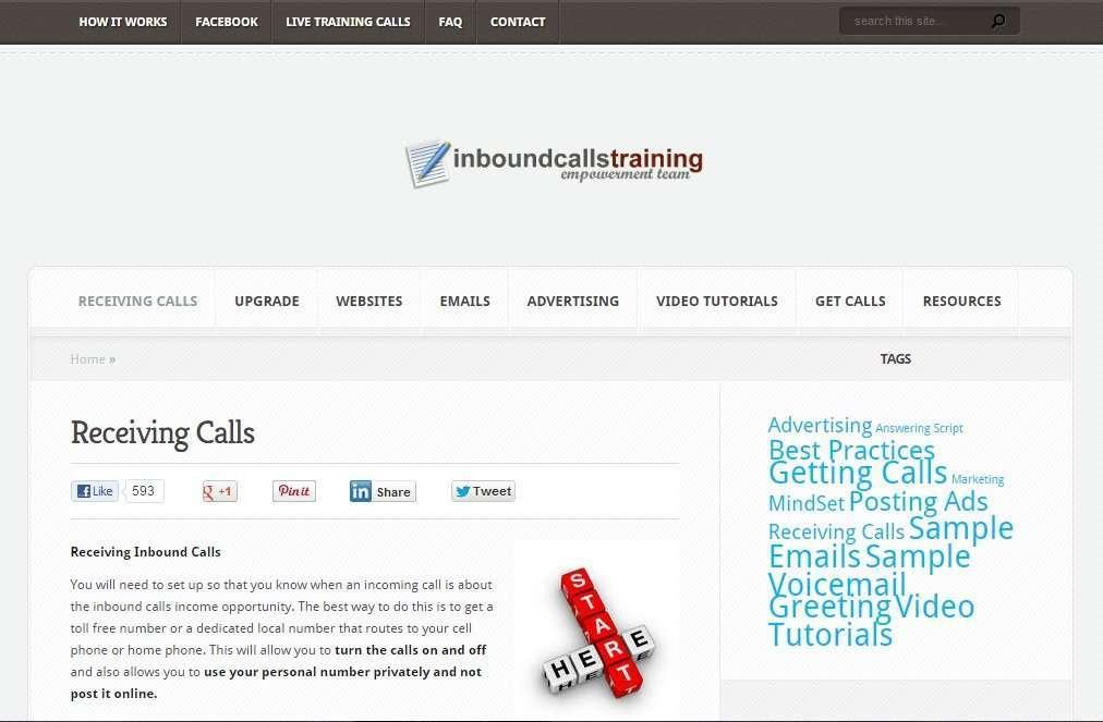 Inbound Calls Training