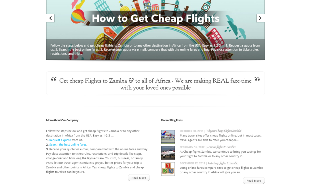 Cheap Flights Zambia