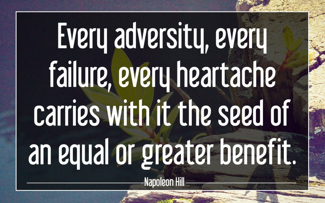 Every adversity, every failure…