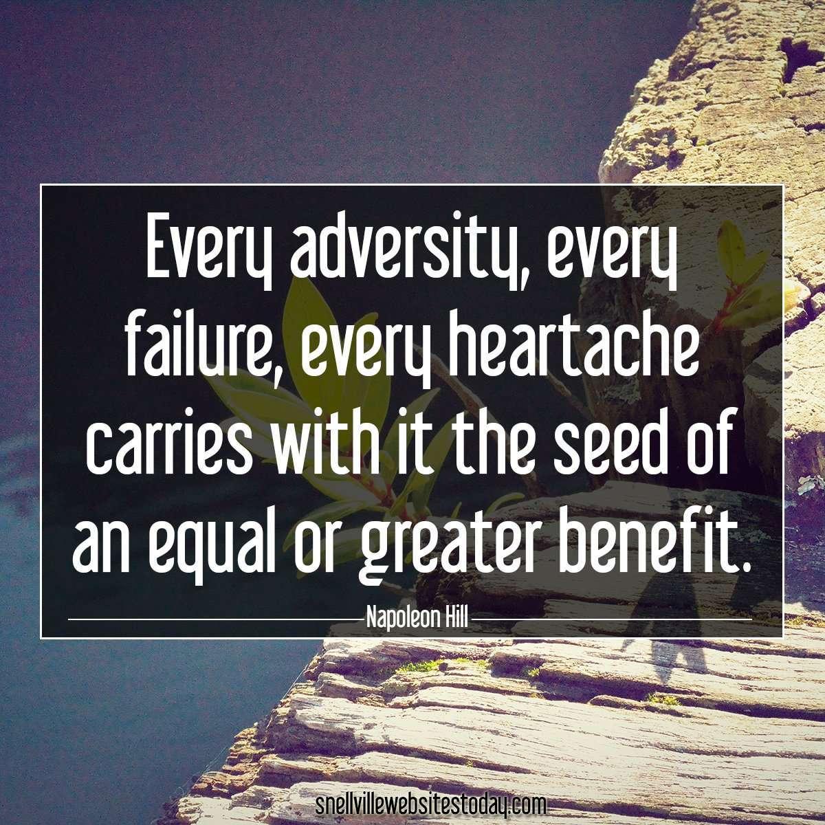 Website design - Every adversity, every failure