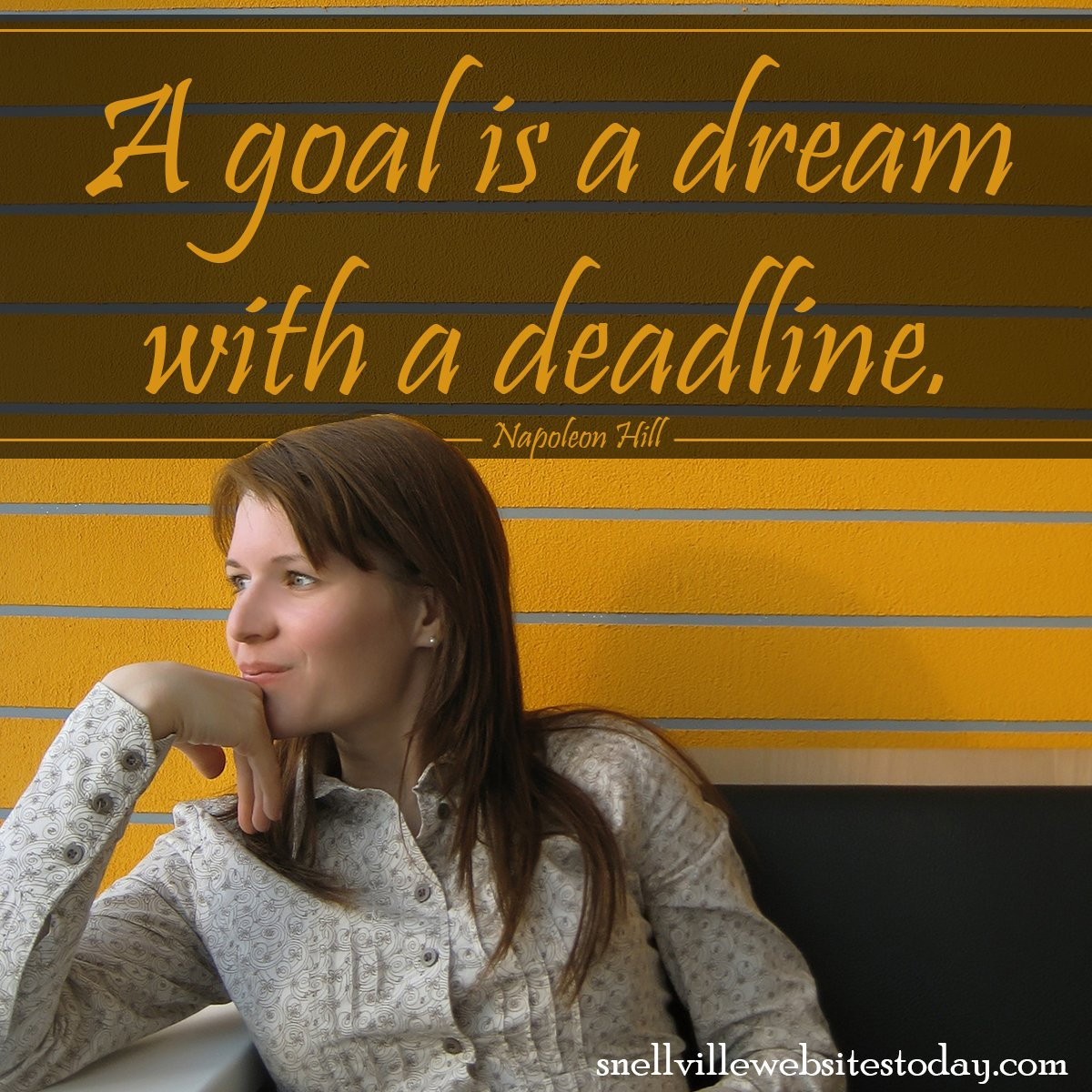Small Business Snellville Websites - A goal is a dream with a deadline
