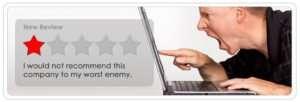 negative customer reviews